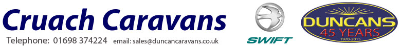 Cruach Caravn Range from Duncan Caravans
